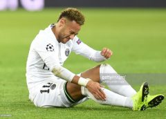 Neymar to Miss Midweek Matches of PSG Because of His Injury