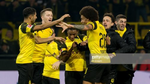 Borussia Dortmund on their way to the 6th Bundesliga title