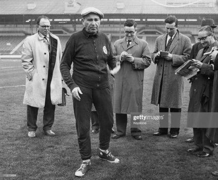 Benfica coach and manager Bela Guttmann (1900 - 1981)
