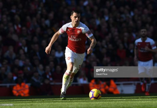 Granit Xhaka of Arsenal