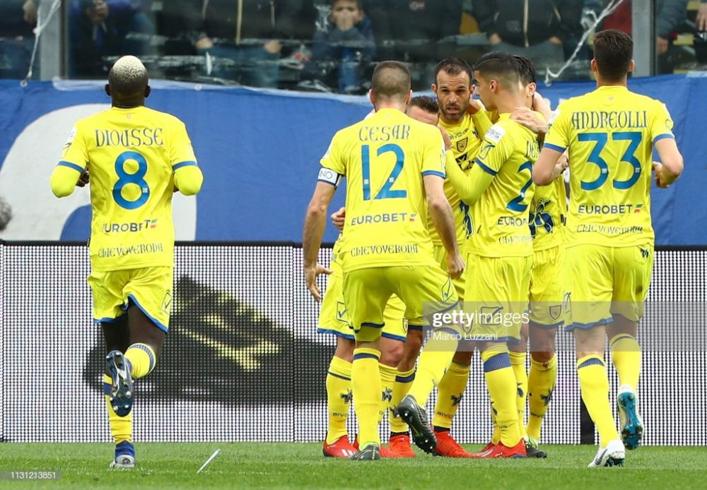 Chievo Verona celebrates