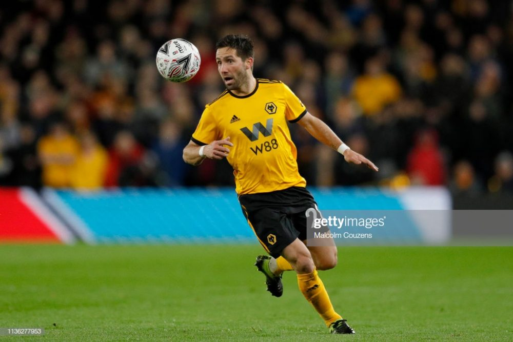 Joao Moutinho of Wolverhampton Wanderers
