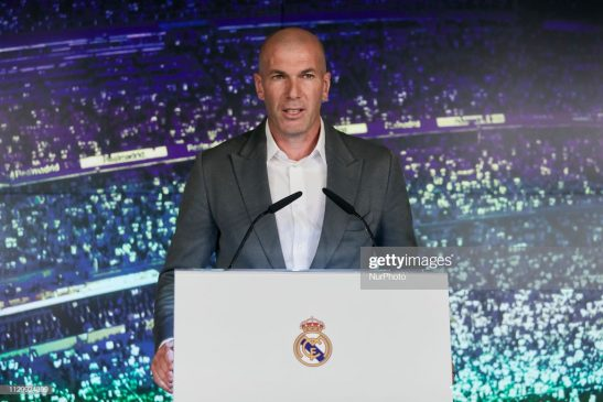 Zinedine Zidane during the press conference Real Madrid
