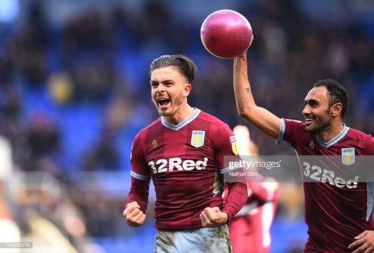 Jack Grealish and Ahmed Elmohamady of Aston Villa