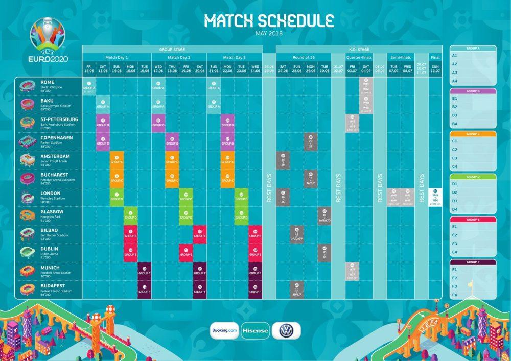 euro 2020 match schedule