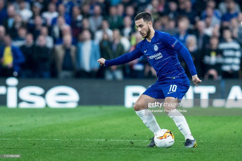 Eden Hazard of Chelsea control ball