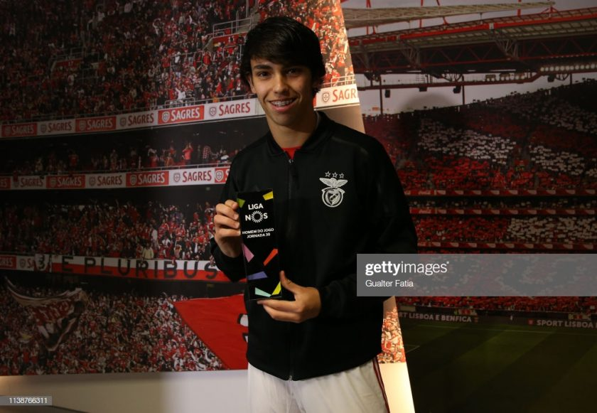 Joao Felix of SL Benfica poses for a photo