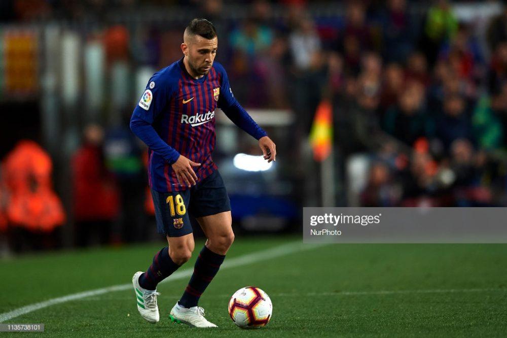 Jordi Alba of Barcelona