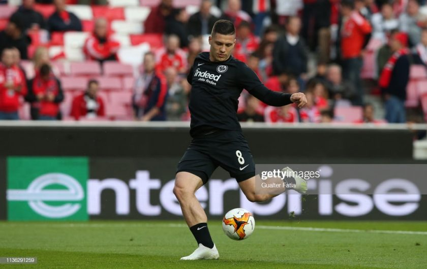 Luka Jovic of Eintracht Frankfurt in action