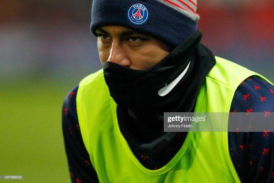 Neymar Jr of Paris Saint Germain during the French Cup