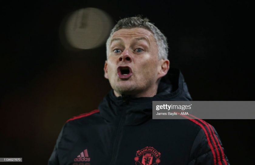 Ole Gunnar Solskjaer the manager - head coach of Manchester United