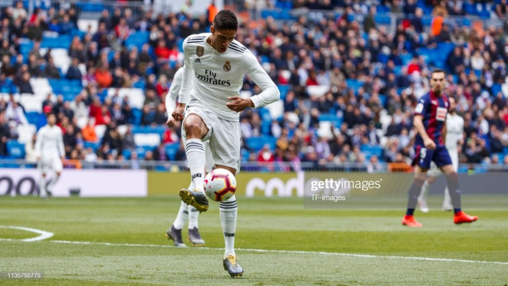 Raphael Varane of Real Madrid