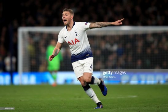 Toby Alderweireld of Tottenham Hotspur
