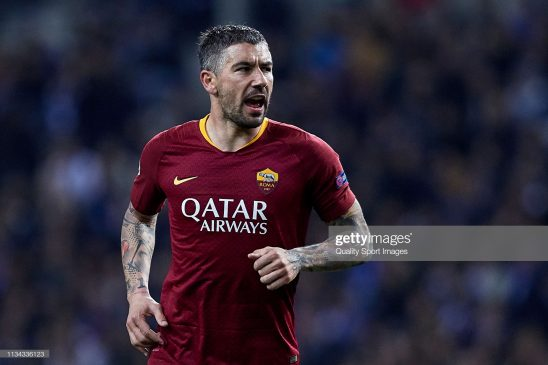Aleksandar Kolarov of AS Roma
