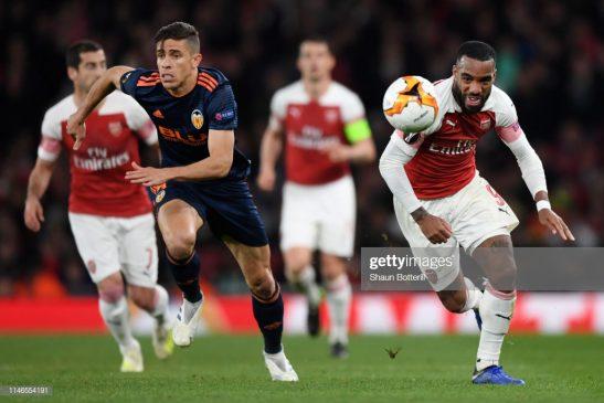 Alexandre Lacazette of Arsenal