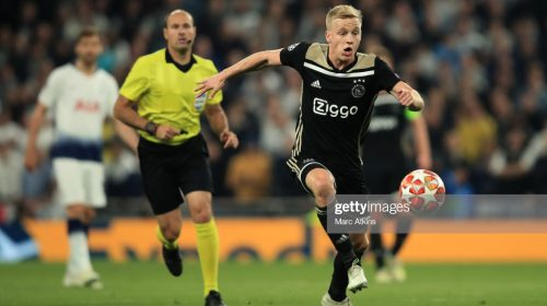 Tottenham struggle to catch up to Ajax after van de Beek early goal