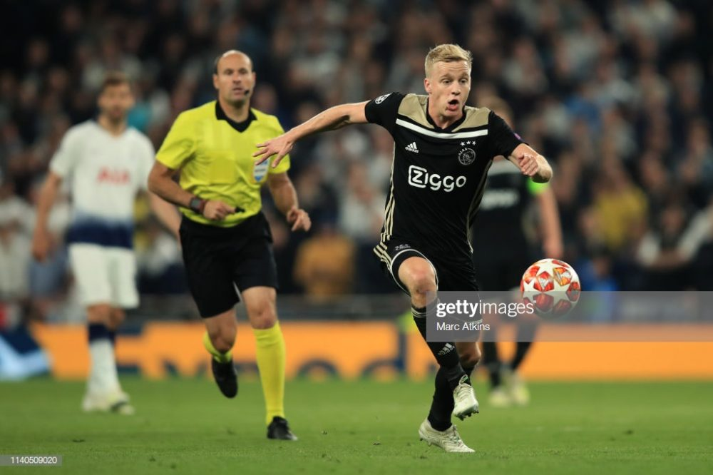 Donny van de Beek of AFC Ajax