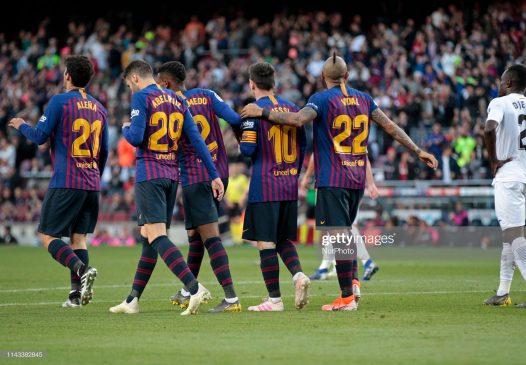 Leo Messi goal celebration