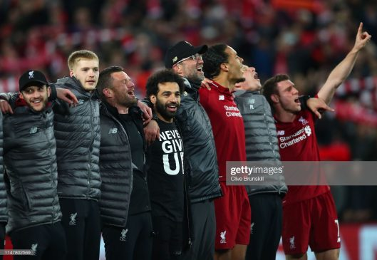 Mohamed Salah of Liverpool celebrates