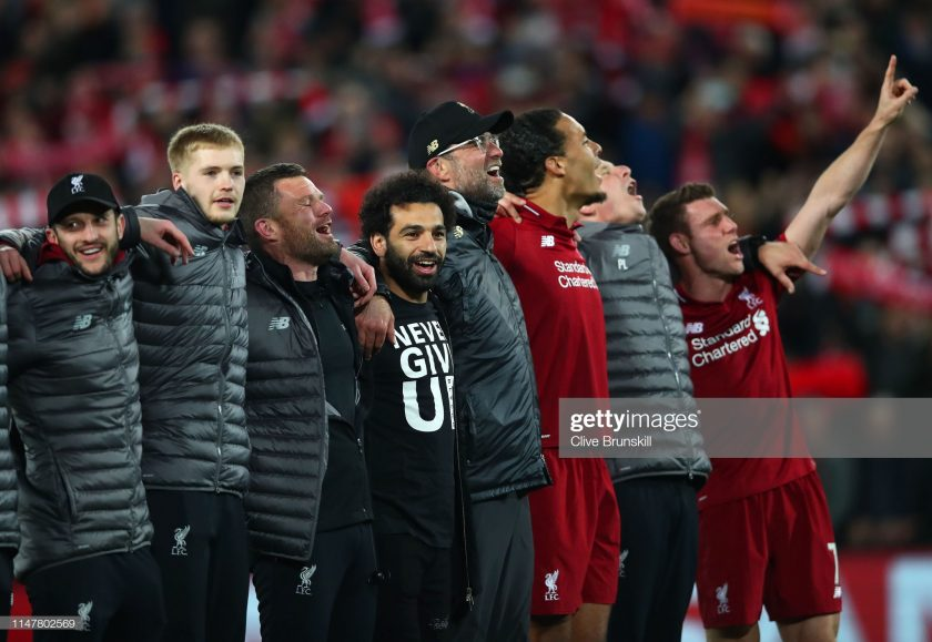 Mohamed Salah of Liverpool celebrates