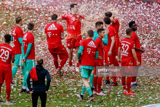 Players of FC Bayern Muenchen