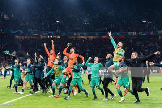 Tottenham Hotspur celebrate