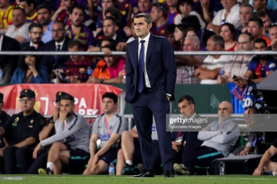 coach Ernesto Valverde of FC Barcelona