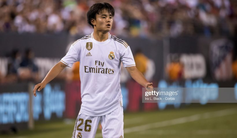 Takefusa Kubo #26 of Real Madrid