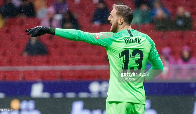 Goalkeeper Jan Oblak of Atletico de Madrid