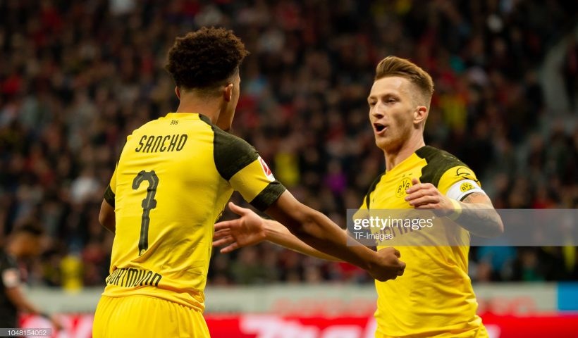Marco Reus and Sancho of Borussia Dortmund
