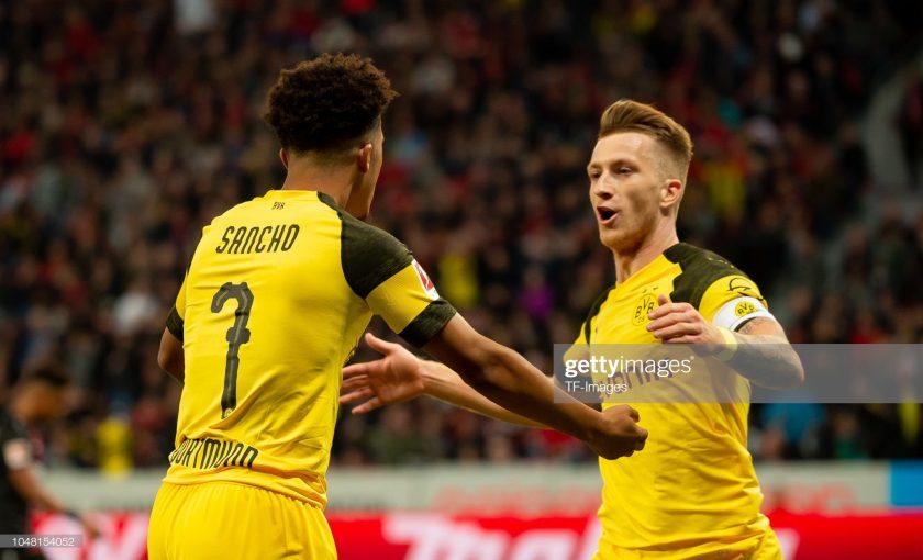 Marco Reus and Sancho of Borussia Dortmund