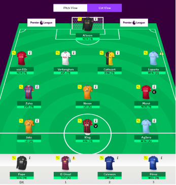 fpl tips round 1