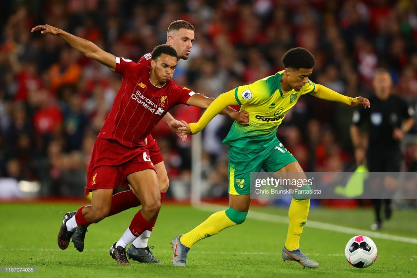 Trent Alexander-Arnold of Liverpool in action