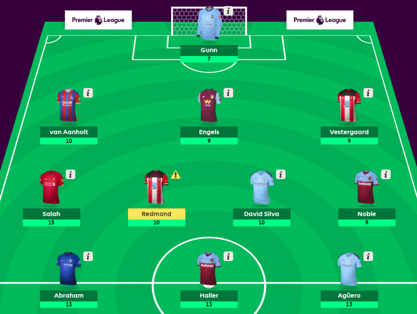 dream team gameweek 3 - fantasy epl
