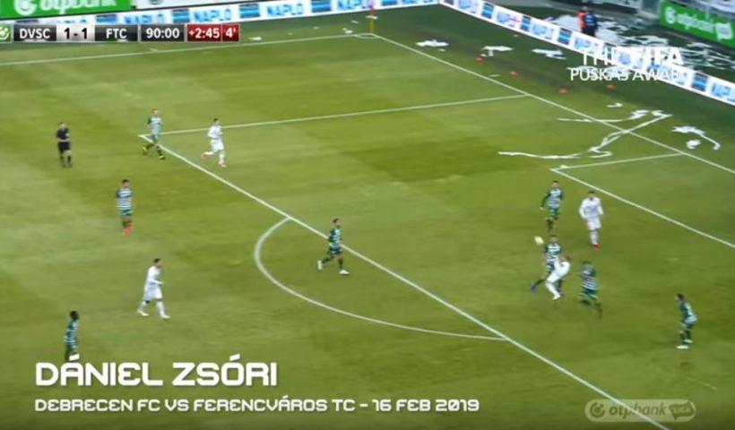 Daniel Zsóri goal, puskas award 2019