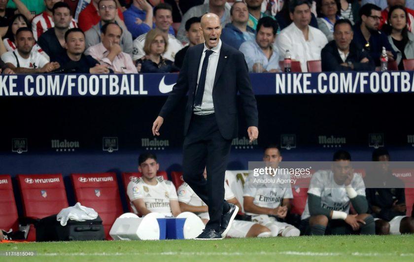 Head Coach Zinedine Zidane of Real Madrid