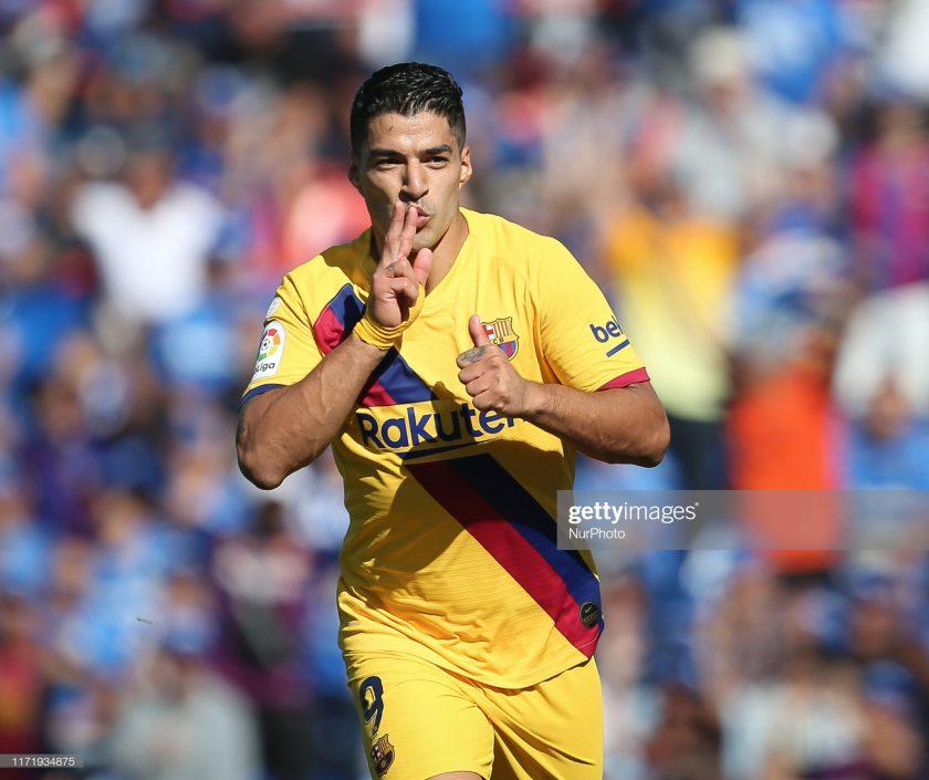 Luis Suarez of FC Barcelona