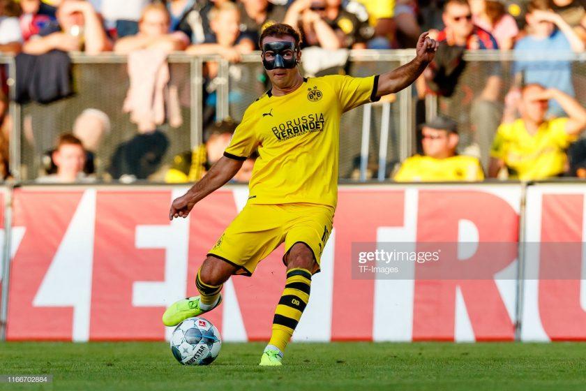 Mario Goetze of Borussia Dortmund