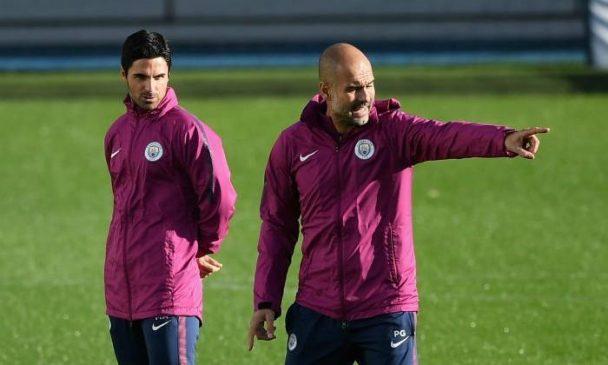 Mikel Arteta and Pep Guardiola