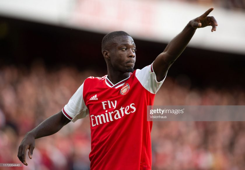 Nicolas Pepe of Arsenal