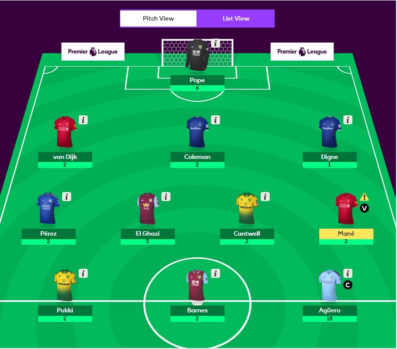 epl fantasy team - gw6 - footballtalk
