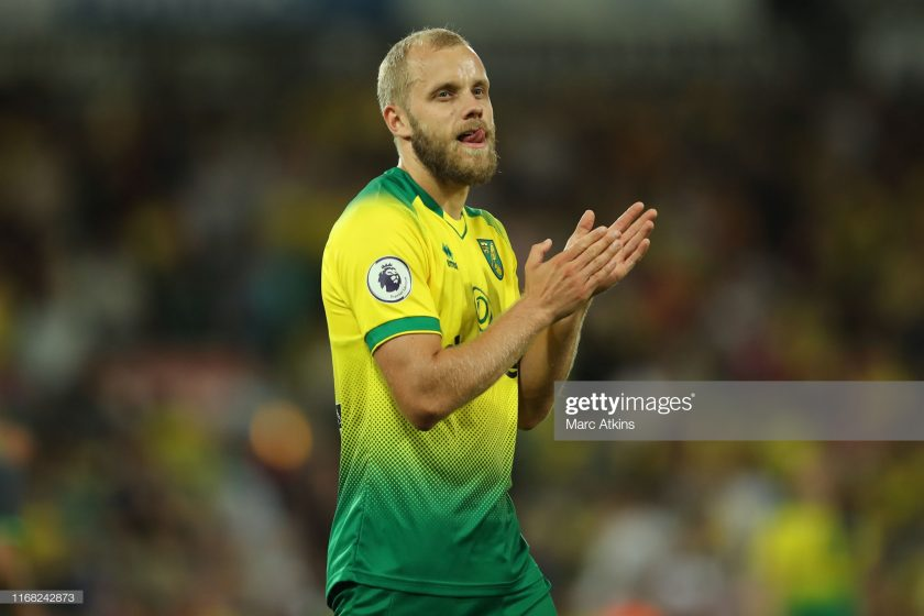 Teemu Pukki of Norwich City celebrate