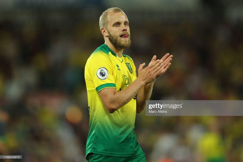 Teemu Pukki of Norwich City celebrate
