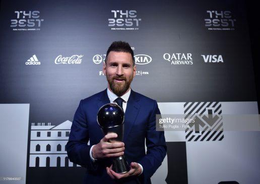 The Best FIFA Men's Player Award Winner Lionel Messi of FC Barcelona