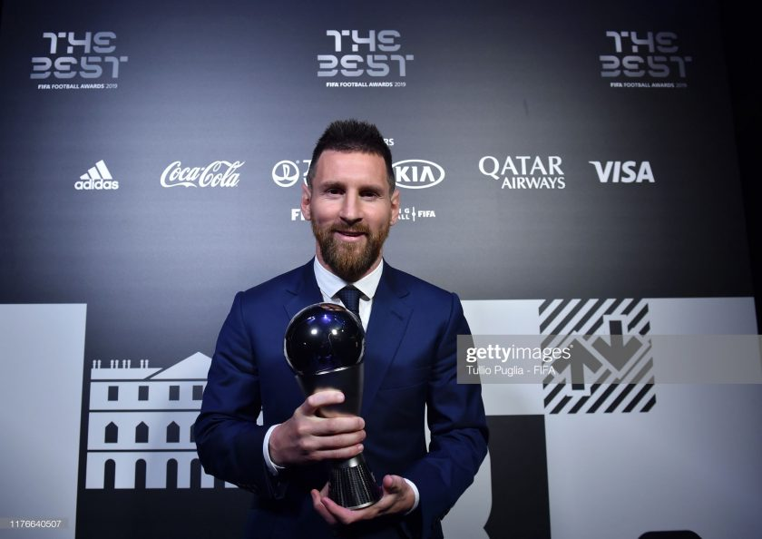 The Best FIFA Men's Player Award Winner Lionel Messi of FC Barcelona