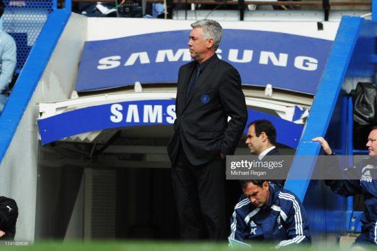 Carlo Ancelotti the Chelsea manager