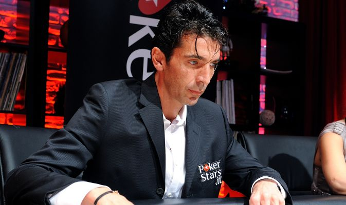 Gianluigi Buffon playing poker