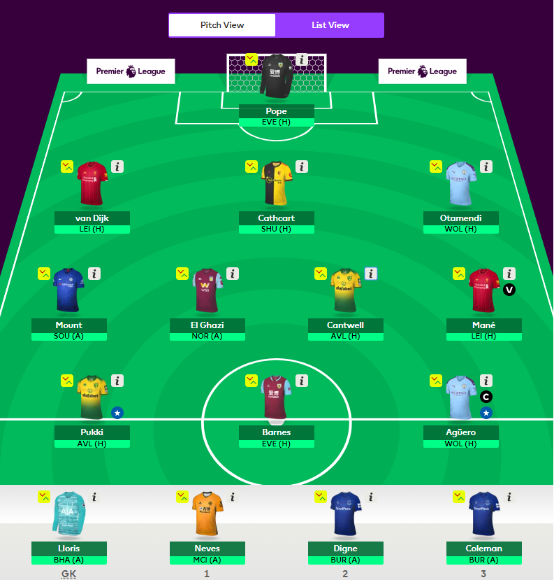 fantasy epl team for gw8