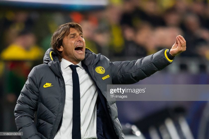 Head coach Antonio Conte of Internazionale Milan