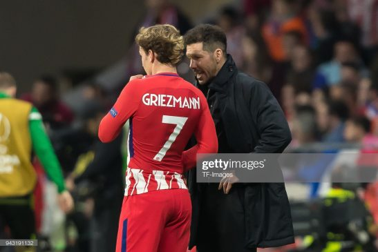 Antoine Griezmann and Diego Simeone